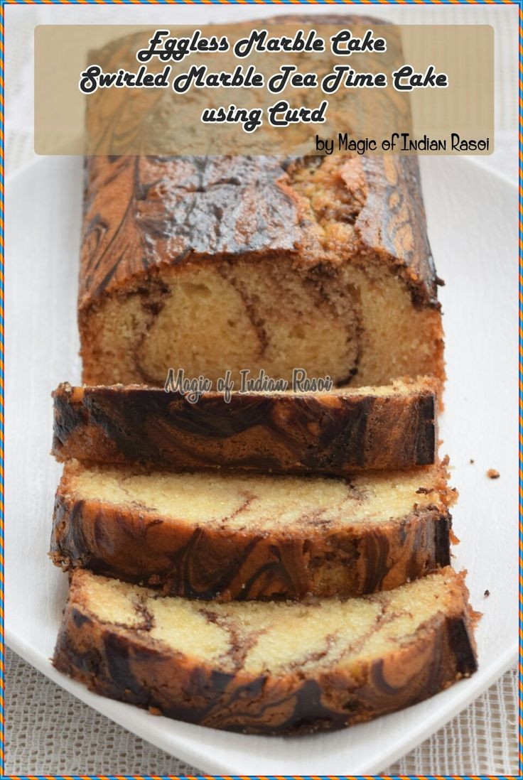 Eggless Swirled Marble Cake Using Curd - a perfect cake to serve at tea time or as dessert!  Recipe here: https://youtu.be/vk_7GnujruE  Like our Facebook page: www.facebook.com/magicofindianrasoi  Visit magicofindianrasoi.com for more recipes  #eggless #marblecake #dessert #egglesscake #indiancuisine #indianrecipe #indianfoodblog #magicofindianrasoi #moir