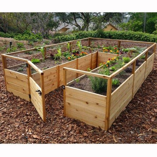 Outdoor Living Today Raised Cedar Garden Bed - 8 x 12 ft. | Jet.com