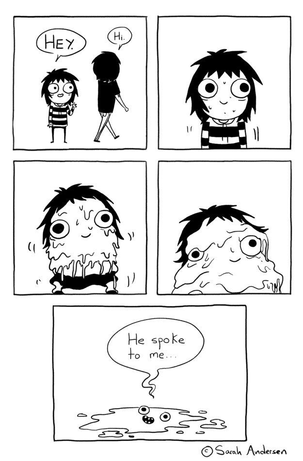 When your crush says hi: | This Comic Shows The True Struggle Of Adulting While Awkward