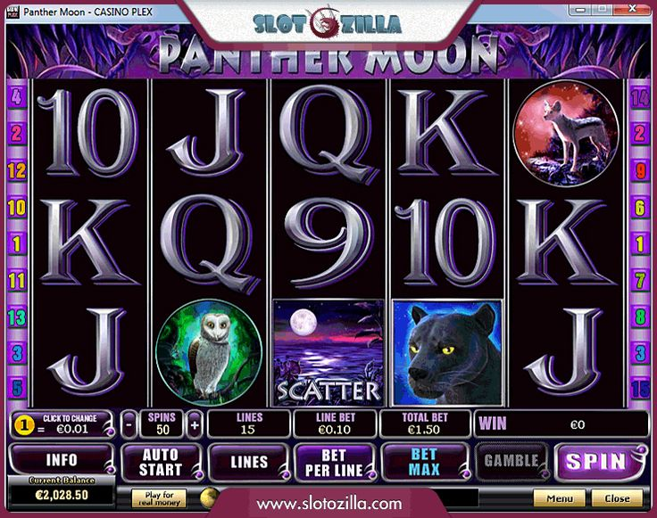 Panther Moon free #slot_machine #game presented by www.Slotozilla.com - World's biggest source of #free_slots where you can play slots for fun, free of charge, instantly online (no download or registration required) . So, spin some reels at Slotozilla! Panther Moon slots direct link: http://www.slotozilla.com/free-slots/panther-moon-1