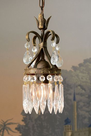 Eleonore Crystal Chandelier - Like a glittering jewel for your home, this tiny chandelier adds a welcome dose of glamour and sparkle to any space   Soft Surroundings