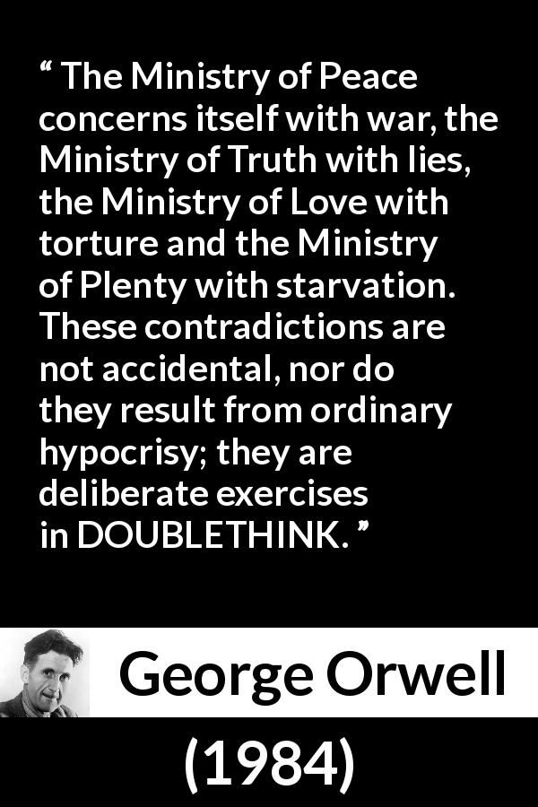 doublethink 1984 definition