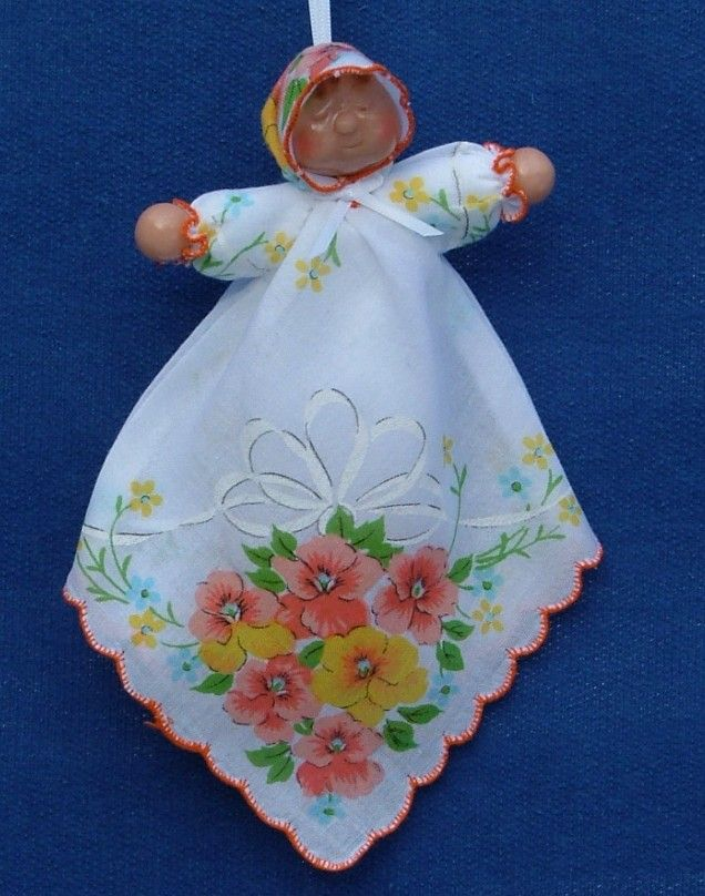 "crafts made from handkerchiefs | The hanky doll measures about 8"" and each one is unique!"