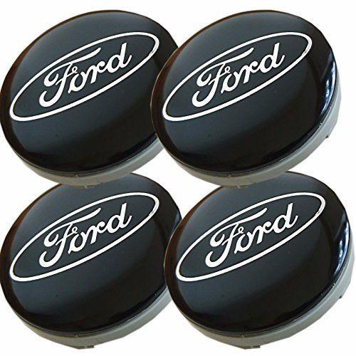 Lot de 4Ford Jantes aluminium milieu Capuchons de moyeu 54mm Cache Noir/Argent Logo de insigne KA Kuga Fusion Fiesta Focus Mondeo Galaxy…