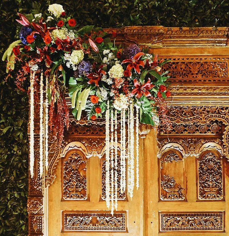 """5 Likes, 1 Comments - Event & Wedding Decor Jakarta (@sentrabunga) on Instagram: """"Asymmetrical arrangement with tropical flowers for this Javanese Classic with modern touch. . . .…"""""""