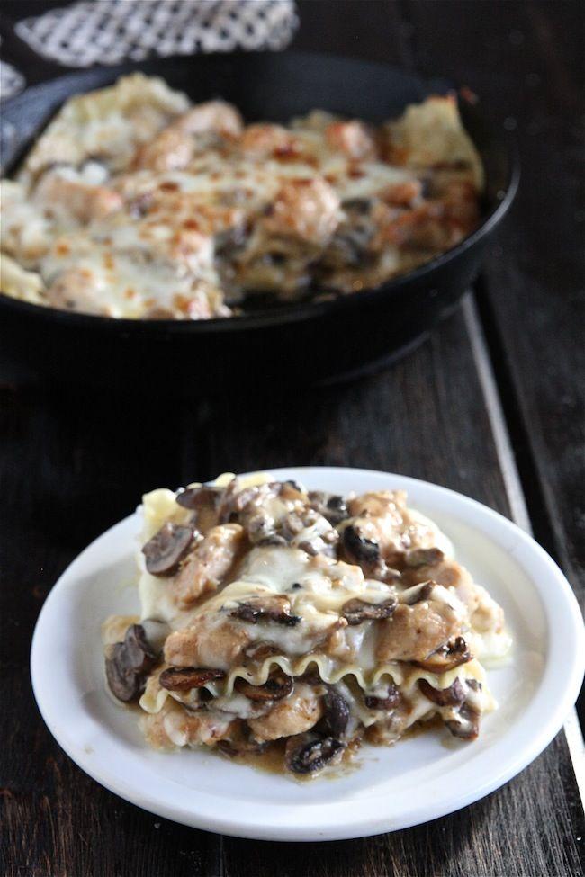 Chicken Stroganoff Skillet Lasagna   The Hopeless Housewife