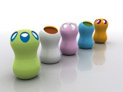 Frezza - Korzina and Zontik trash cans by Karim Rashid. His whimsical trash receptacles, produced in polyethylene solution-dyed through rotational molding, might just coerce hoarders to purge. With the companion Zontik umbrella stand, select from two exterior finishes: protective or polished paint. 11 Via Ferret, Suite 9, 31020 Vidor (Treviso) Italy; 39-0423-988211; frezzainc.com.