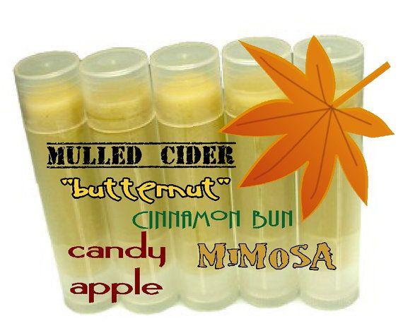 Natural Lip Balm Fall Flavors Cider Pumpkin by MommaBNaturals