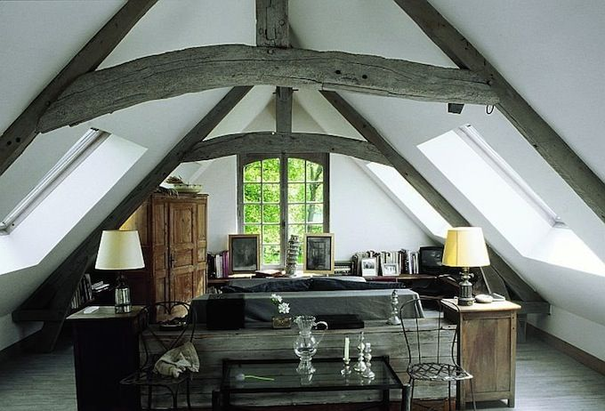 Interior design style french country attic loft Characteristics of modern office
