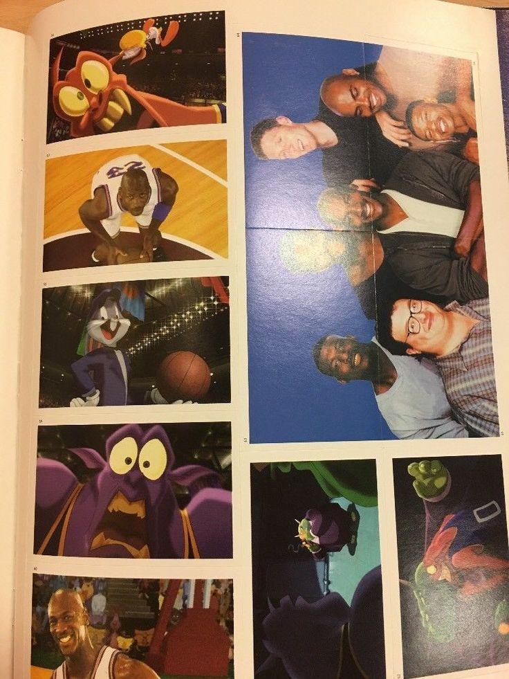 1996 michael jordan space jam sticker story book sealed