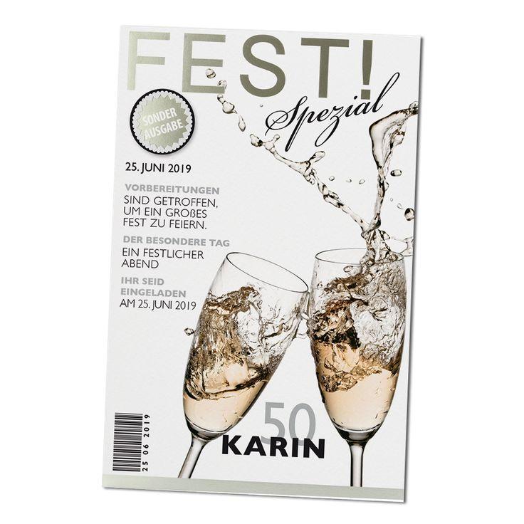 Ausgefallene Einladungen im Zeitschriften-Look online bestellen bei Top-Kartenlieferant in Aachen.