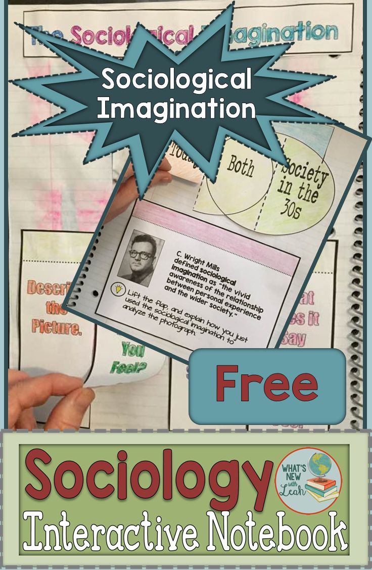 Sociological Imagination | Check out this *FREE* hands-on activity that you can add to your sociology interactive notebook! This resource is intended to introduce the concept of sociological imagination and includes graphic organizers, an implementation page, and an answer key. Grab your freebie now!