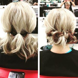 Temos aqui um penteado sem grandes dificuldades, mas que parece complicadíssimo. | 14 penteados simples para cabelos curtos que fazem a diferença