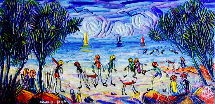 I have just finished another beach scape it is about people playing cricket Darwin the top end of Australia.