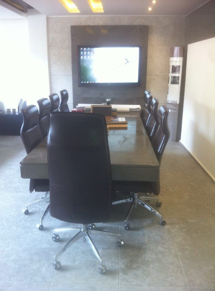 Meeting Table, Office, gallery, showroom, decoration, interior, marble top, LCD unit, design, Architect