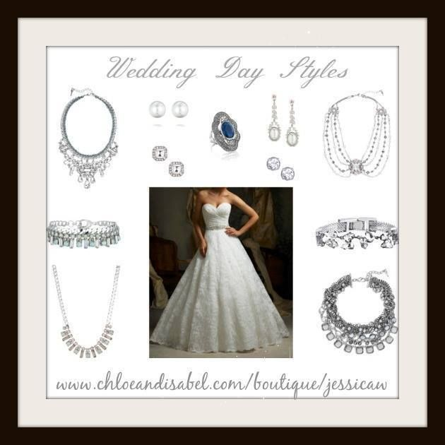 Click through to shop the look then join me on fb for style tips & inspiration at www.facebook.com/... #wedding #weddings #bride #bridal #jewelry #gifts #fashion #style #styleinspiration #Valentine #retro #vintage #boho #chic #accessories #spring #rose #nautical #vintage #blush #necklace #statementnecklace #earrings