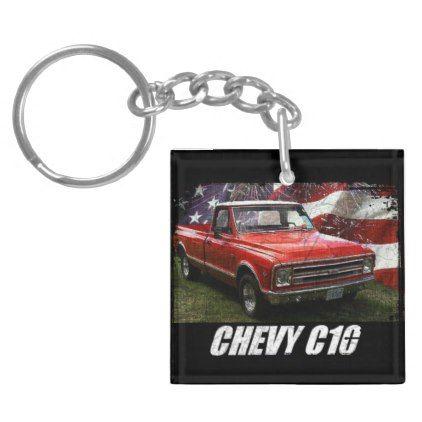 1967 C10 Fleetside Keychain - antique gifts stylish cool diy custom