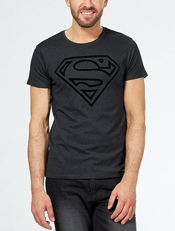 tee shirt logo superman kiabi mode homme
