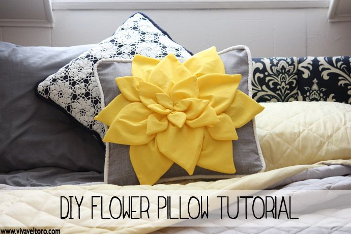 This will surely brighten up any room!  DIY Flower Pillow Tutorial