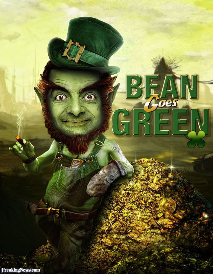 www.freakingnews.com pictures 96000 Mr-Bean-Leprechaun--96450.jpg