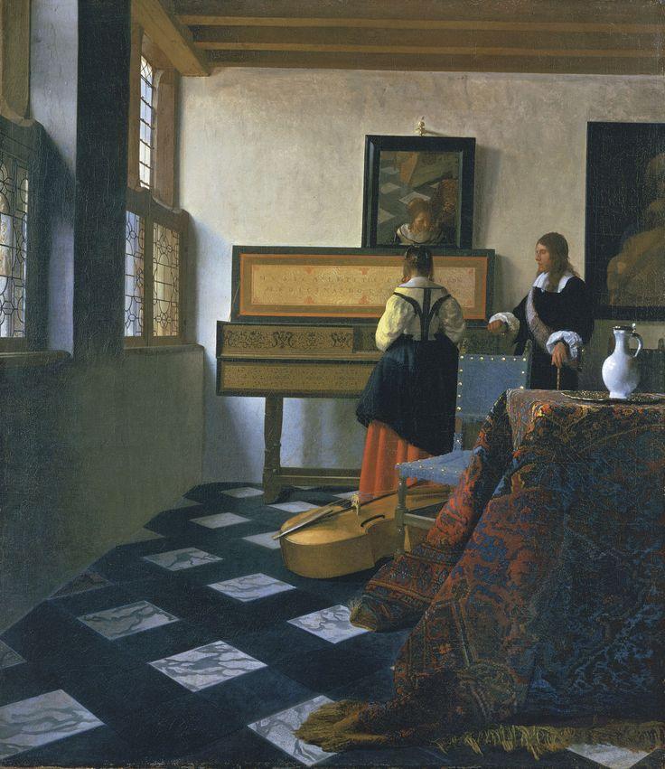 Johannes Vermeer - De muziekles (1665)