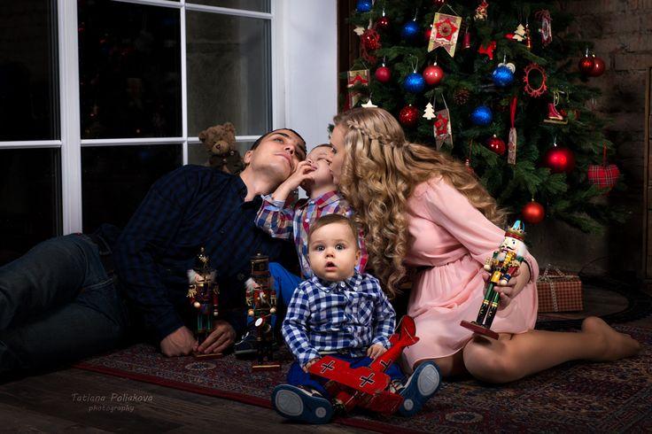 семейная новогодняя фотосессия christmass family photoshoot