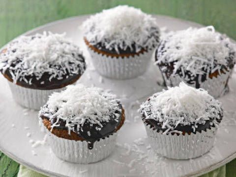 Double happiness lamington muffins: Karen Martini's yummy lamington muffins are sure to be a hit at your place.