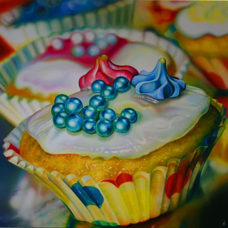 Cupcake Gems- Sarah Graham (photo-realistic painting)