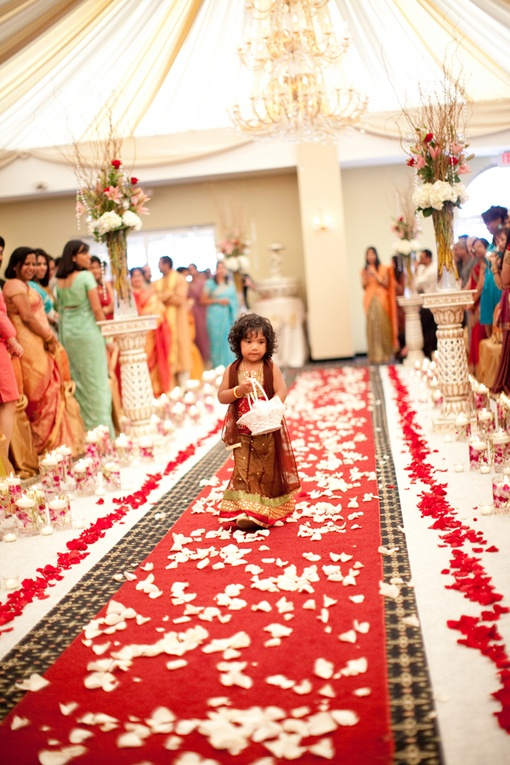 Flowergirl At A Hindu Wedding Photo By Rhmphotography