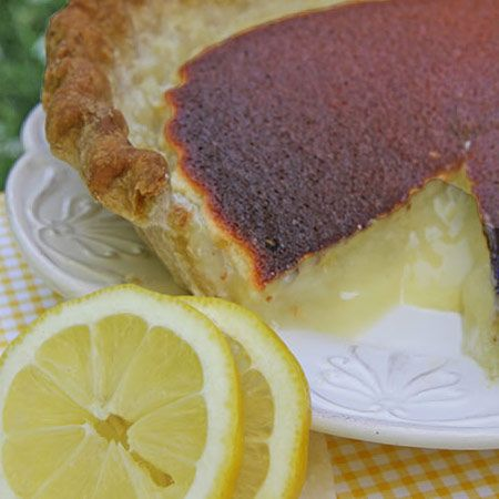 Grandma's Zesty Lemon Sponge Pie