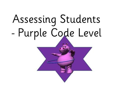 SSP Purple Code Level Assessment Tool - Free, Public - YouTube