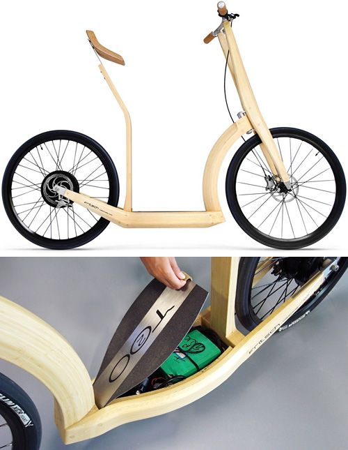 T20 Bamboo Electric Scooter (Images courtesy designboom & Antoine Fritsch)