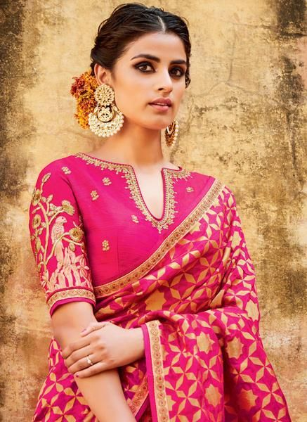 Blush Peach Tussar Silk Bridal Lehenga Choli