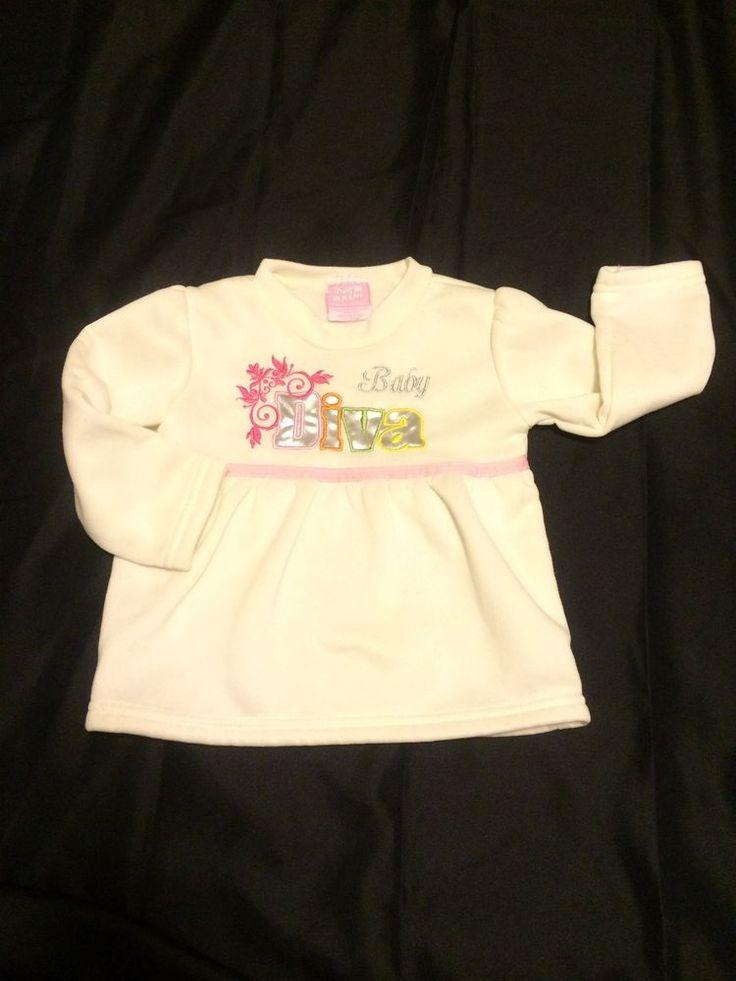 Soft Shirt Baby Diva Size 24 Months Mon Petit Girls Ivory #MonPetit #Sweatshirt #Everyday
