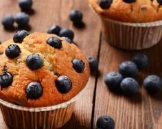 Muffins Lights aux Myrtilles et Son d'Avoine