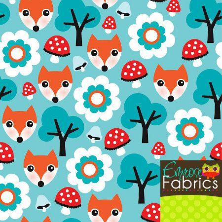 Emrose Fabrics The Fox Says What Cotton Knit by EmroseFabrics, $10.50