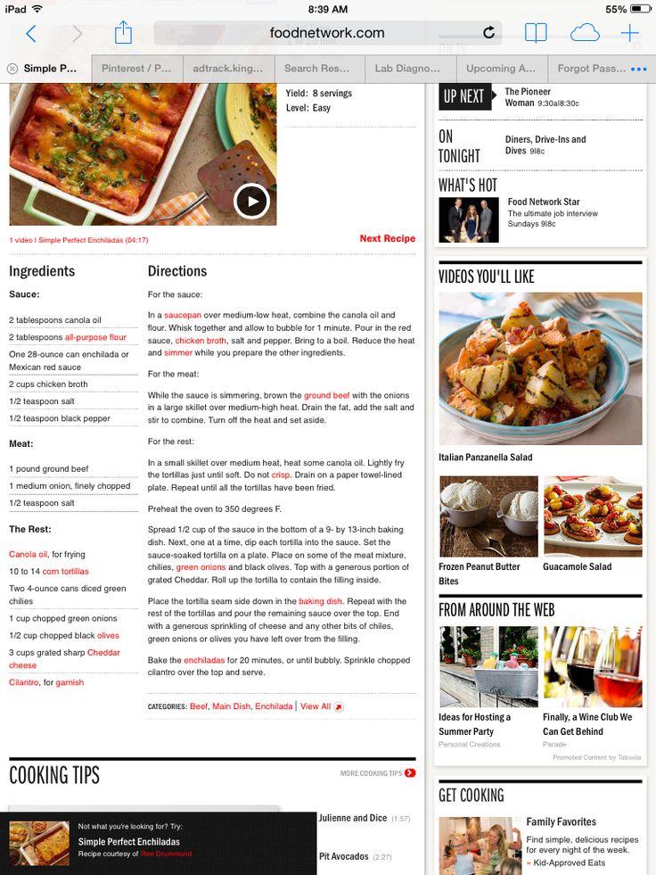 Simple perfect enchiladas | Mexican dishes | Pinterest | Enchiladas ...