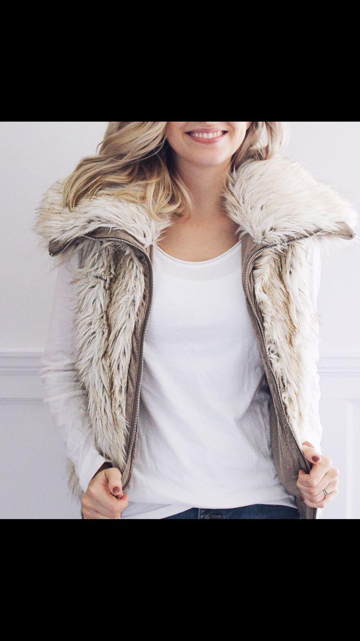 Vest Outfits, vest, women's vest, vest outfit 2017, faux fur vest outfit  https://sashboutique.ca/collections/outerwear/products/hettie-vest