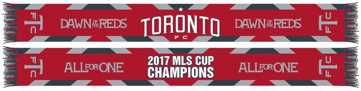 TORONTO FC SCARF - WOVEN 2017 MLS Cup Champions Waves