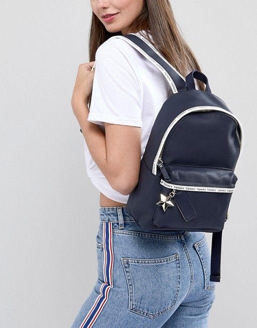 15149ff13 Tommy Hilfiger Logo Tape Mini Backpack | random stuff i like | Mini ...