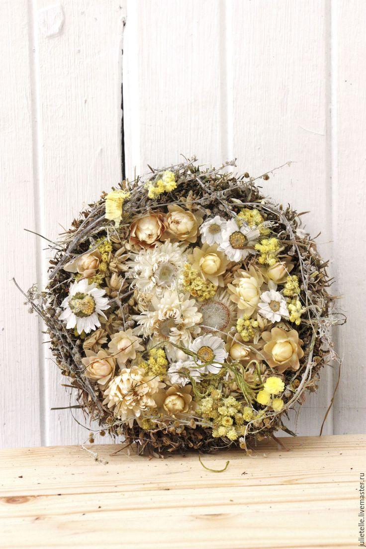 Купить Интерьерная композиция - бежевый, композиция из цветов, цветы для дома, цветы в подарок, современнная флористика