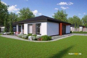 Projekty rodinných domů - projekt domu bungalov FLIP