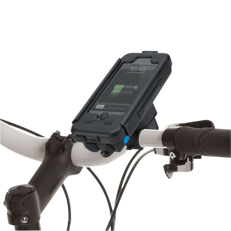 The Back Up Battery Bike Mount | This is the bike mount that not only keeps your iPhone 5 dry and protected while you ride, but also prolongs its battery life. An ideal companion on long cycling tours, the case's integrated 3,000 mAh battery delivers two full charges to an iPhone for extended use of power-sapping navigation, music, and biking apps. - Hammacher Schlemmer