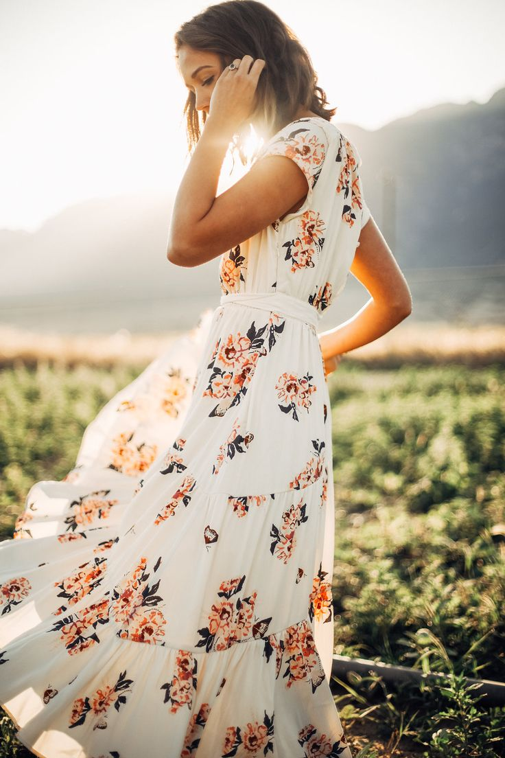 FREE PEOPLE: ALL I GOT PRINTED MAXI DRESS IN IVORY COMBO// DRESSES// WOMENS CLOTHING