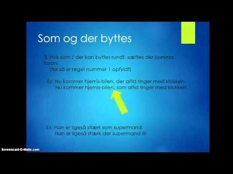de 7 gyldne kommaregler - YouTube