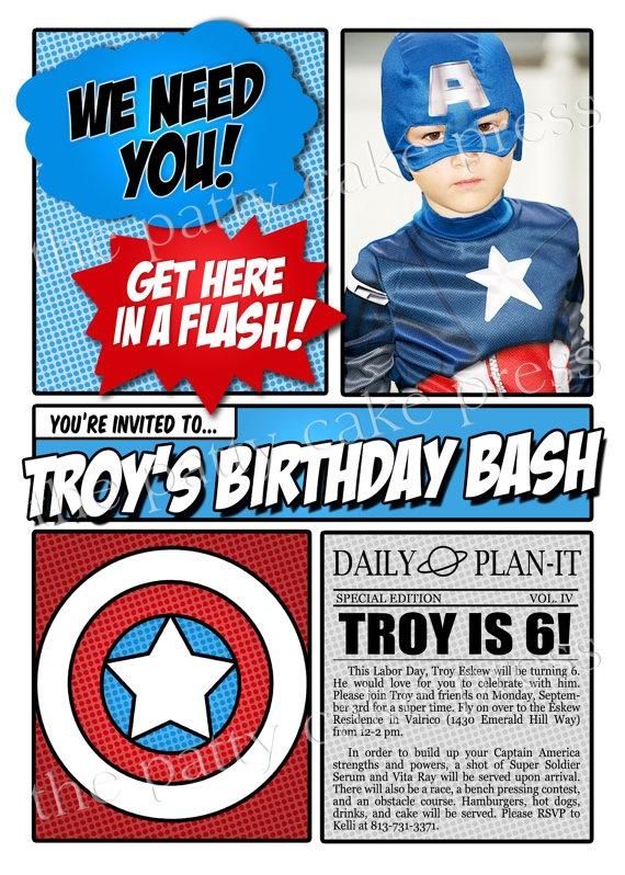 32 best Captain America Party Ideas images on Pinterest