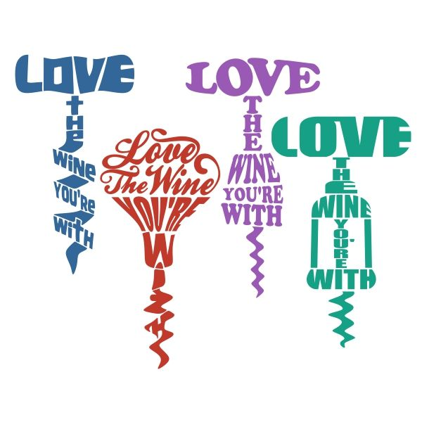 Love Wine Cuttable Design Cut File. Vector, Clipart, Digital Scrapbooking Download, Available in JPEG, PDF, EPS, DXF and SVG. Works with Cricut, Design Space, Cuts A Lot, Make the Cut!, Inkscape, CorelDraw, Adobe Illustrator, Silhouette Cameo, Brother ScanNCut and other software.