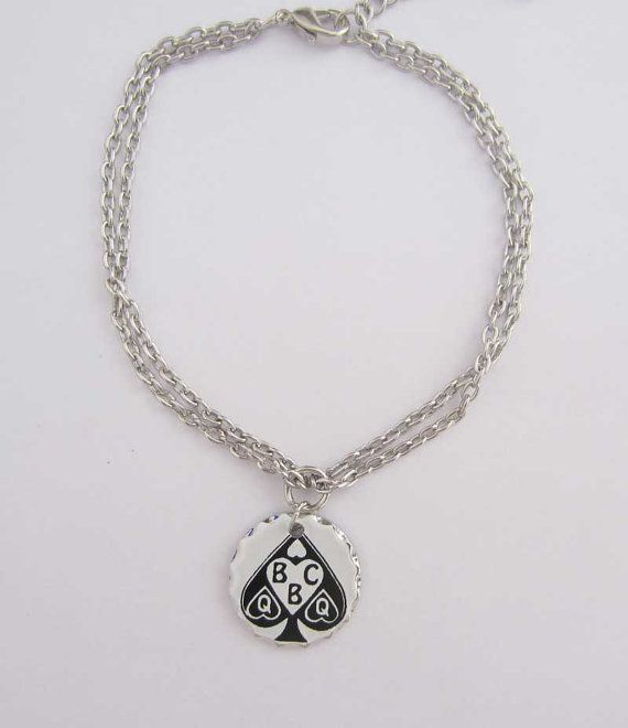 Queen of Spades BBC Anklet by hotwifecharms on Etsy