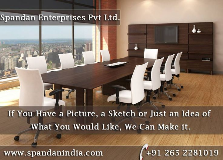 We believe #boardroom #furniture should reflect the success of your company, and you can make a real statement by choosing from our extensive range of executive #office furniture. Whether you are looking for chairs, tables or media walls, we are confident you won't find better boardroom furniture in the India. http://www.spandanindia.com/
