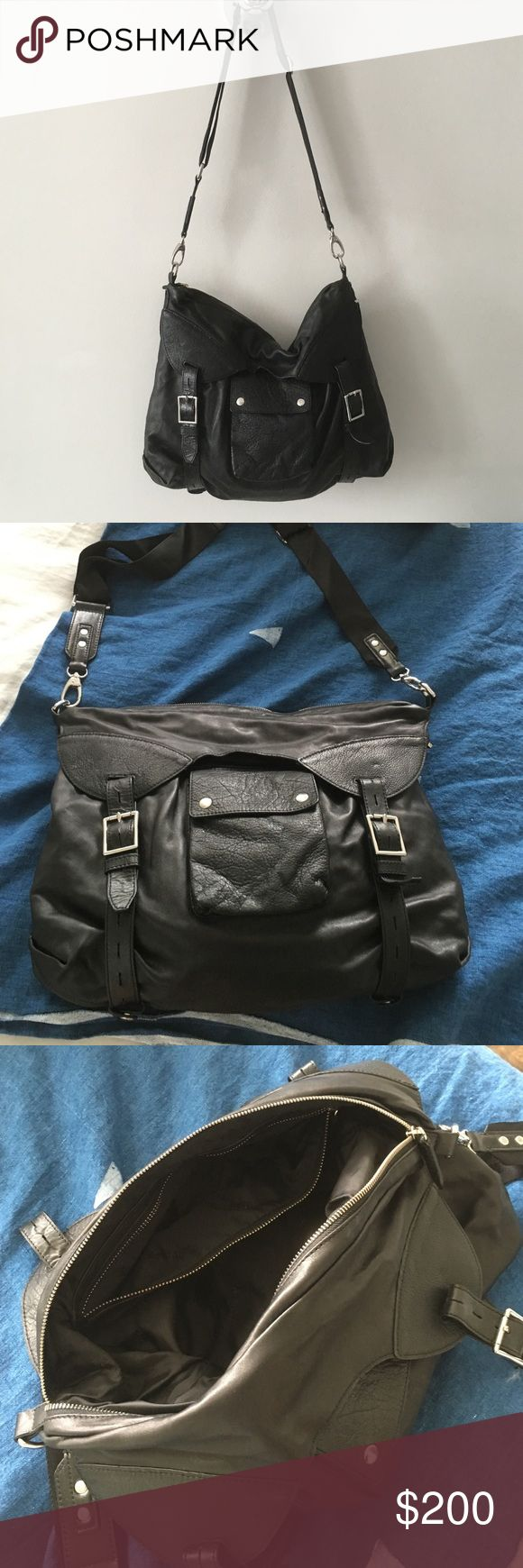 Leather crossbody bag Belstaff, leather, inside zip pocket, outside phone pocket. Back strap for bikes or motorcycle or strap for messenger style. purchased in Rome.  Size about 12x15 ..condition new. Belstaff Bags Shoulder Bags